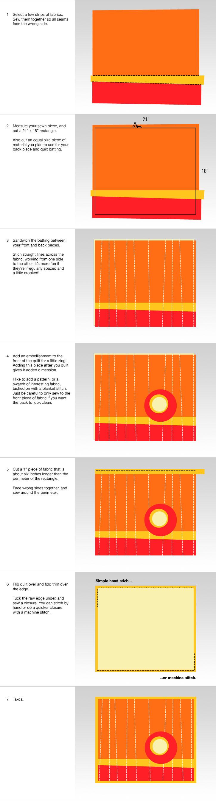 quilt steps